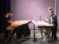 Photo of UMASS Percussion Ensemble at Gateway