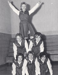 Cheerleaders from Gateway's first year (1964)