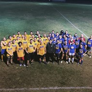 players from 2016 Alumni Soccer Game