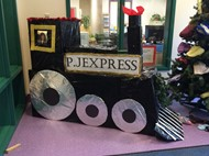 "The ""Pajama Express"" collection box at Chester Elementary."