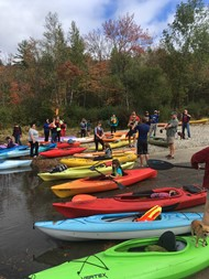 Kayaking was a new event at this year's Homecoming Weekend!