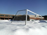 Snow in Soccer Goal