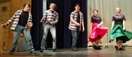 "Show Choir Members rehearsing ""Jail House Rock"" for this year's Cabaret!"