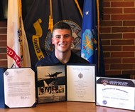 Franky Tangredi ('17) accepted into 3 military academies