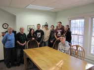 Students build table for Montgomery COA
