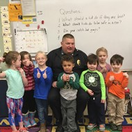 Chief Robert Garriepy and PreK Friends
