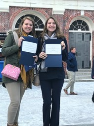Grace Van Buren and Angela Wright represented Gateway at Massachusetts Girls and Women in Sports Day