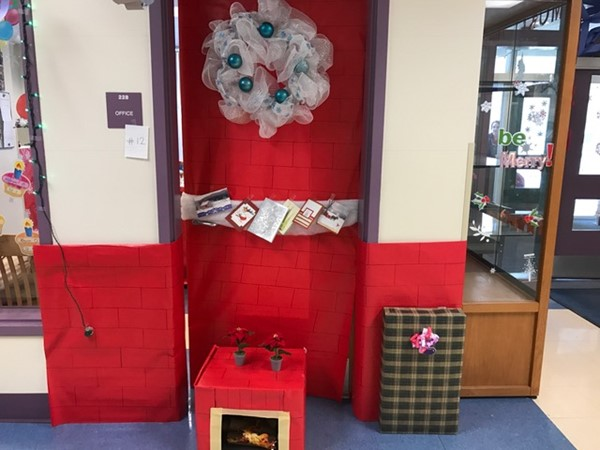 Mrs. Morrissey's warm door!