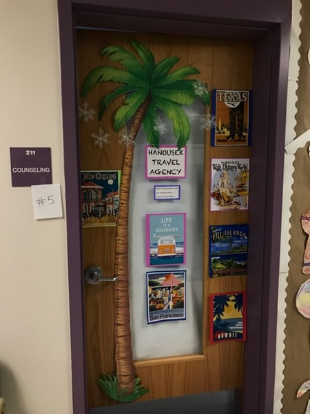 Ms. Hanousek's door