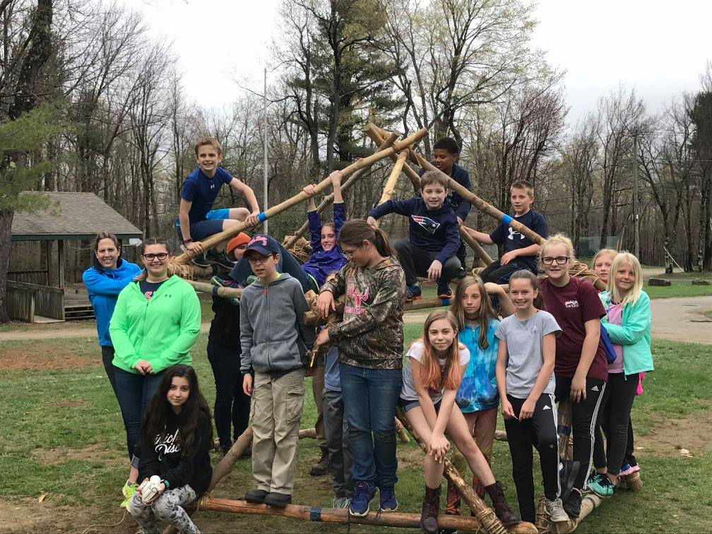 5th Graders Built a Geodesic Dome on Overnight Trip (photo)