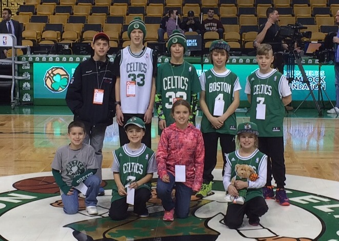 Photo of Gateway students at Boston Celtics game