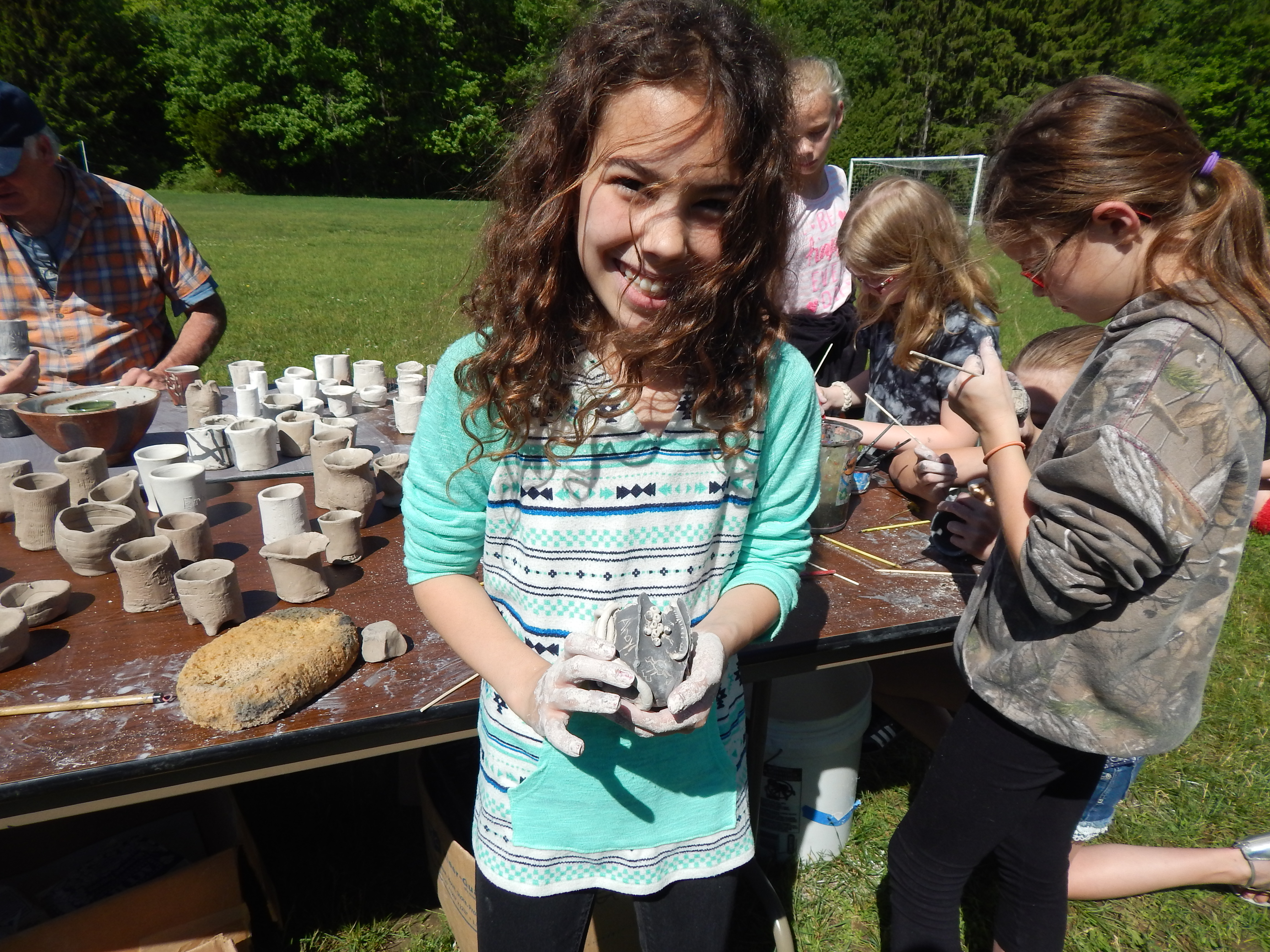 Students learned the art of pottery at Littleville and Chester