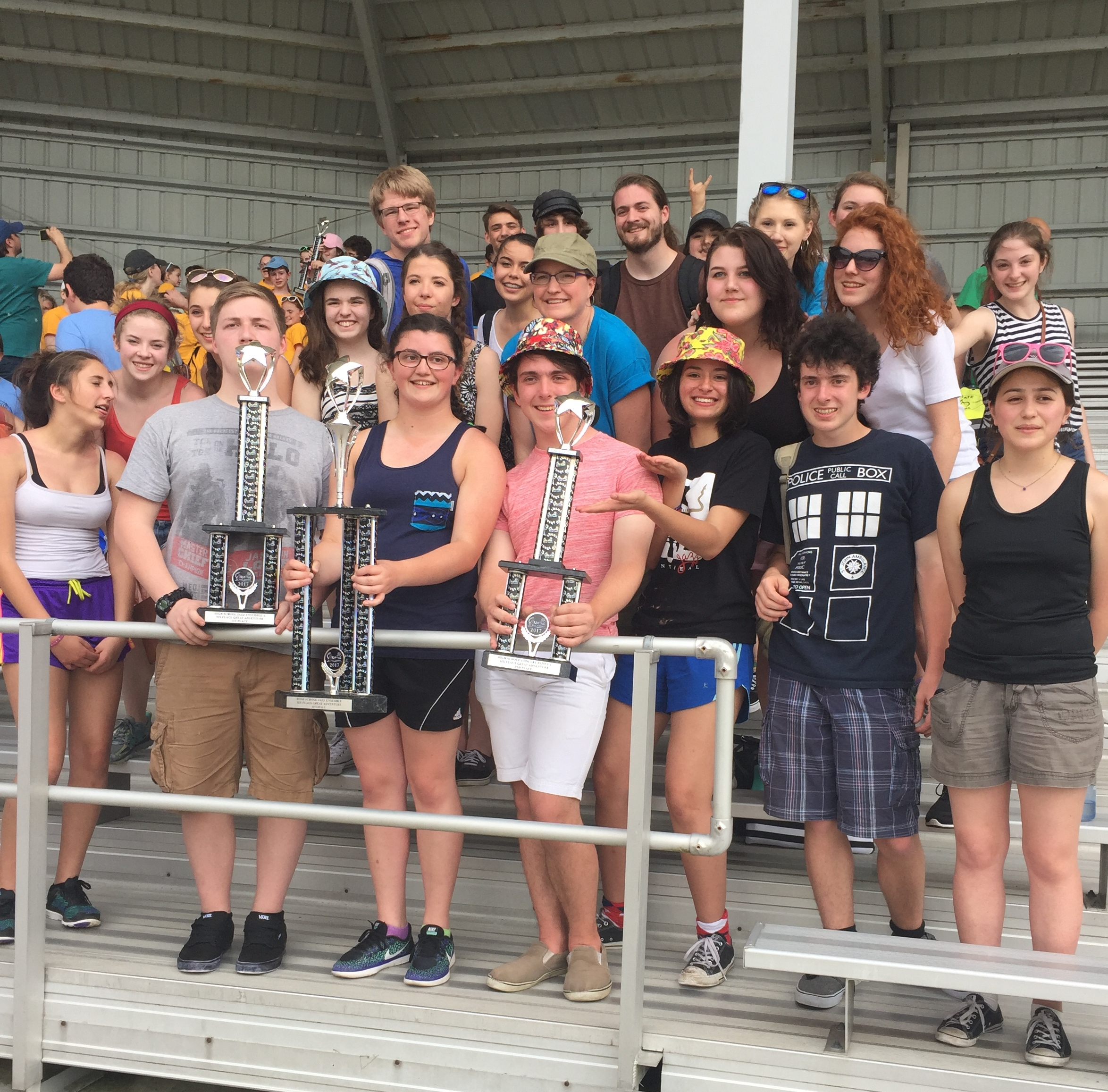 Band Students Celebrate in the Park (photo)