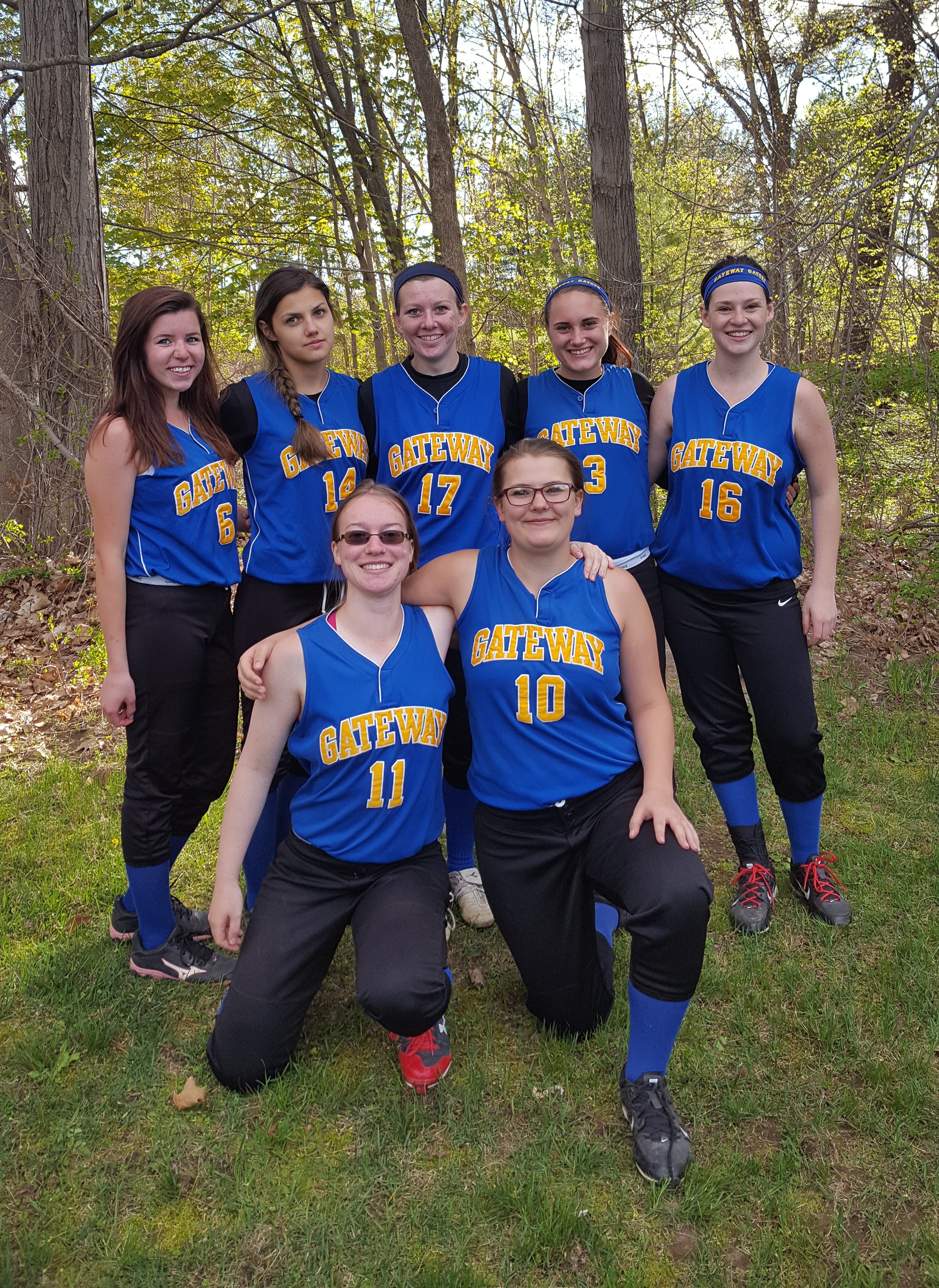 Photo of Seniors on Softball Team