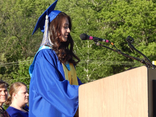 Salutatorian Anna Pless