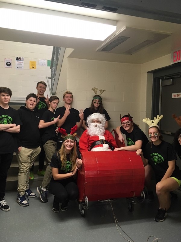 Seniors and Santa ready to go!