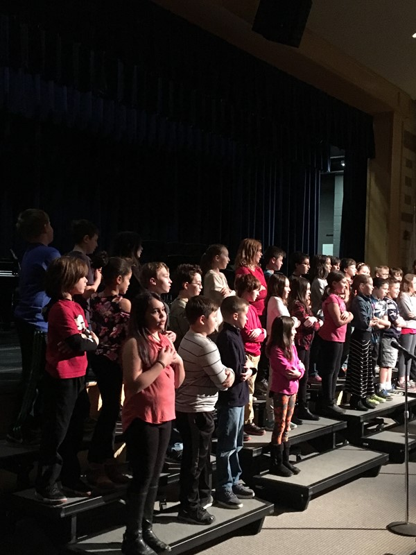 4th graders from Littleville opened the concert with