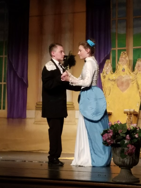 Cinderella and the prince at the ball