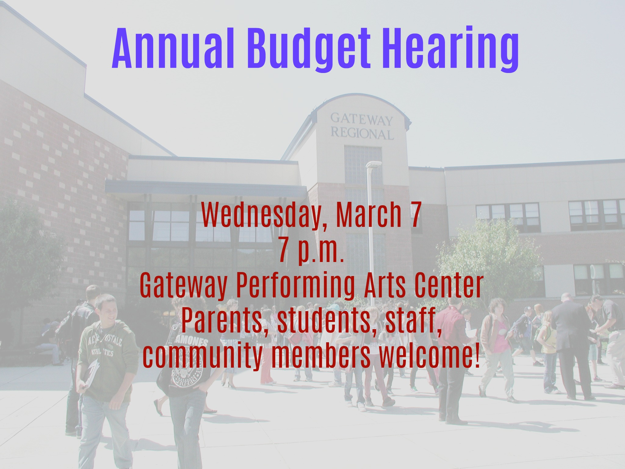 Budget Hearing flyer